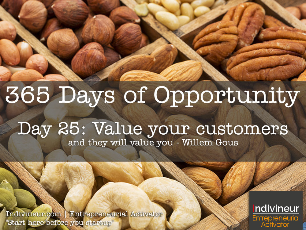 Day 25 Motivational Quotes: Value your customers and they will value you