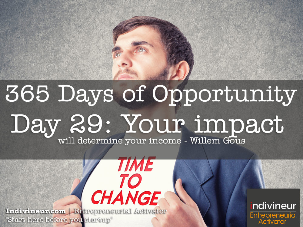 Day 29 Motivational Quotes: Your impact will determine your income