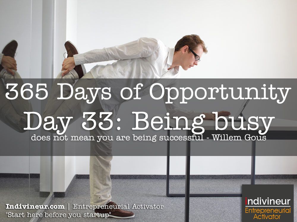 Day 33 Motivational Quotes: Being busy does not mean you are being successful